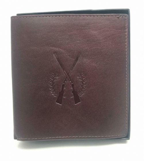 Shotgun & Firearm Certificate Wallet Licence Holder Premium Leather Ox Blood Sgl